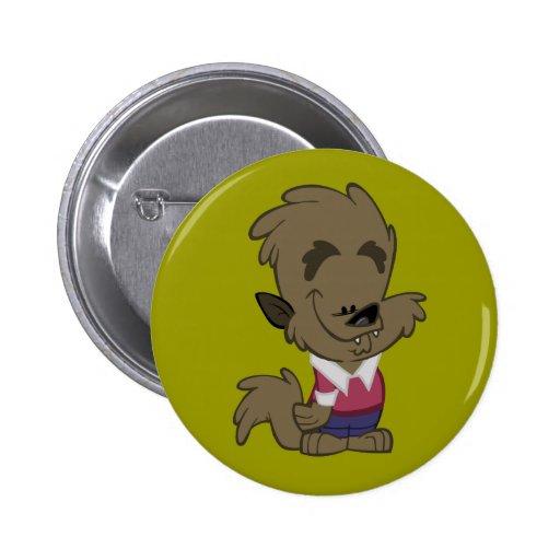 Wolf Mann Button