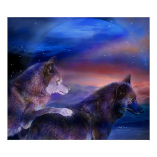Wolf Mates Art Poster/Print
