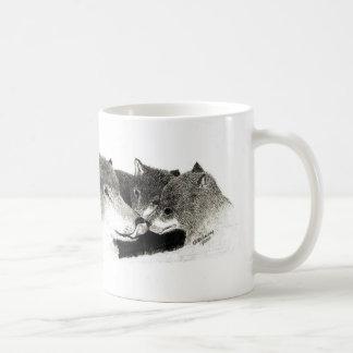 Wolf Mom and cubs Mug