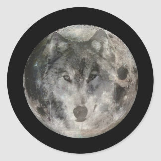Wolf Moon 1 Stickers