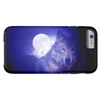 Wolf, Moon & Blue Night Tough iPhone 6 Case