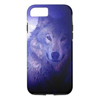 Wolf, Moon & Blue Night Tough iPhone 7 Case