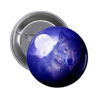 Wolf & Moon Button