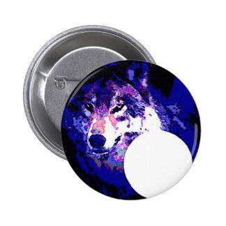 Wolf & Moon Pin