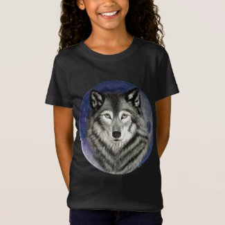 Wolf Moon Girl's T-shirt