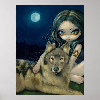 Wolf Moon gothic fantasy Art Print