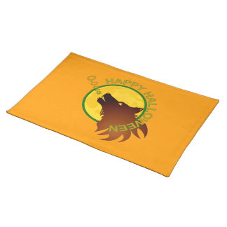 Wolf moon Halloween American MoJo Placemats