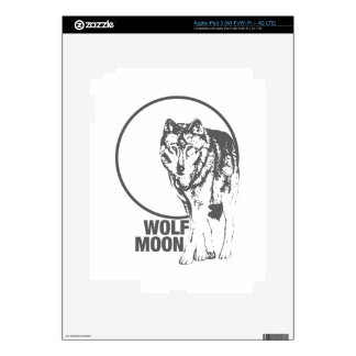 Wolf Moon - howling Decals For iPad 3