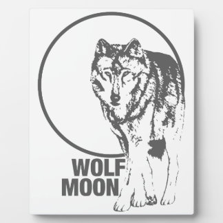 Wolf Moon - howling Plaque