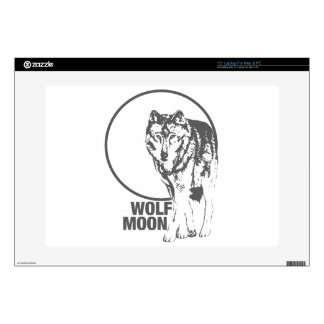 "Wolf Moon - howling Skin For 15"" Laptop"