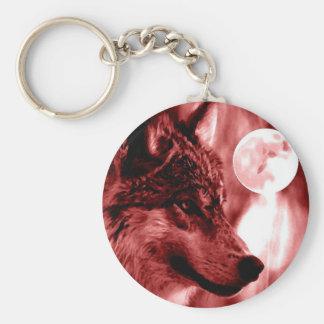 Wolf & Moon Key Chain