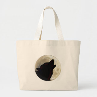 Wolf Moon Large Tote Bag