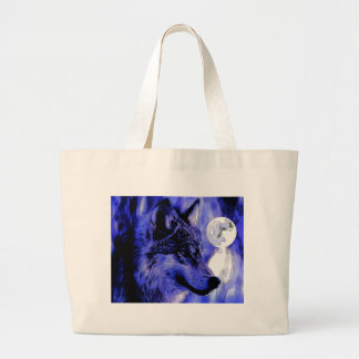Wolf & Moon Large Tote Bag