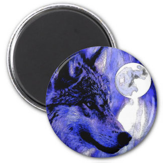 Wolf & Moon Magnet
