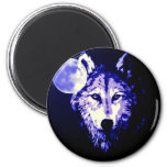 Wolf & Moon Magnets
