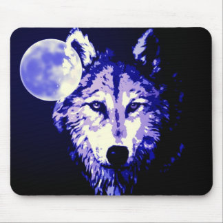 Wolf & Moon Mouse Pad