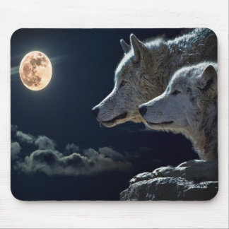 Wolf Moon Mouse Pad