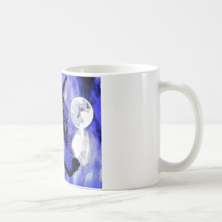 Wolf & Moon Classic White Coffee Mug