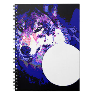 Wolf & Moon Notebook
