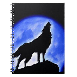 Wolf & Moon Notebook
