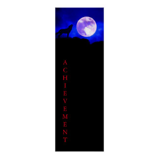 Wolf & Moon Panoramic Achievement Poster Print