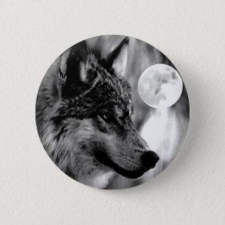 Wolf & Moon Pinback Button