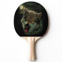 Wolf moon Ping-Pong paddle