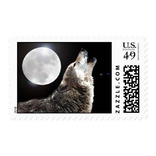 Wolf & Moon Postage