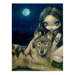 """Wolf Moon"" Postcard"