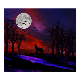 Wolf Moon Poster