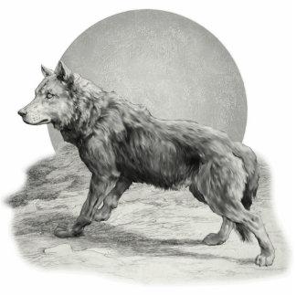 Wolf Moon Profile Photo Sculptures