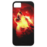 Wolf, Moon & Red Sky iPhone 5 Cover