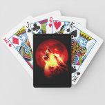 Wolf, Moon & Red Sky Poker Deck
