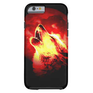 Wolf, Moon & Red Sky Tough iPhone 6 Case