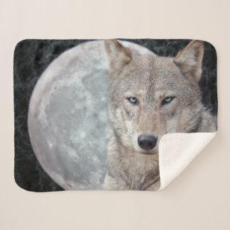 Wolf Moon Sherpa Blanket