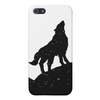 Wolf & Moon Silhoutte iPhone 5 Cover