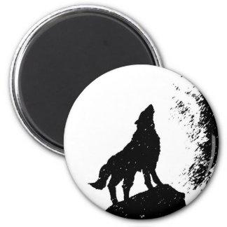 Wolf & Moon Silhoutte Magnet