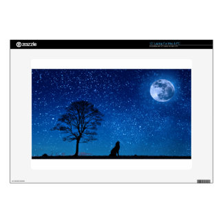 wolf moon stars decal for laptop