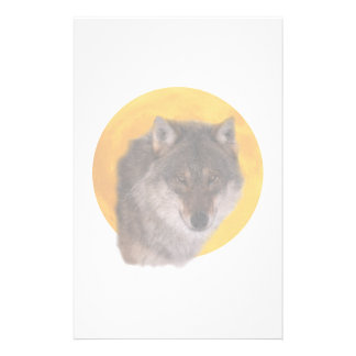 Wolf moon stationery