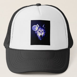 Wolf & Moon Trucker Hat