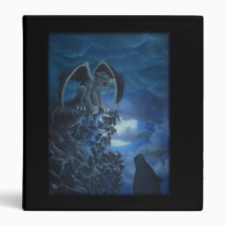Wolf moon - Wolf with Golem Oil Painting by KSZP Binders