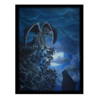 Wolf moon - wolf with GOLEM Postcard