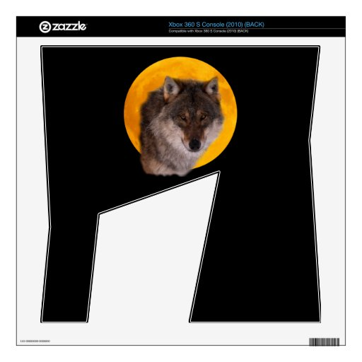 Wolf moon Zazzle Skin Decals For Xbox 360 S