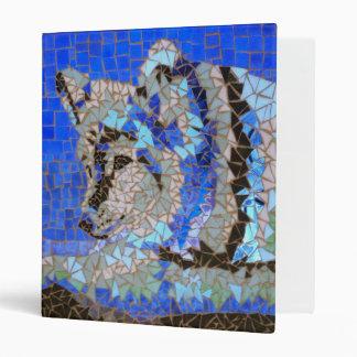 Wolf Mosaic 3 Ring Binder