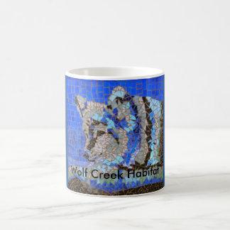 Wolf Mosaic for Wolf Creek Habitat Classic White Coffee Mug