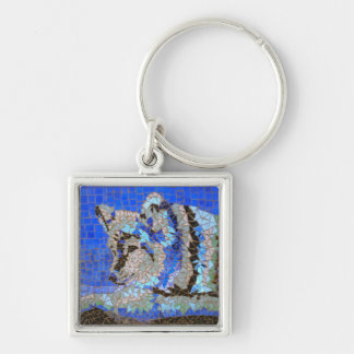 Wolf Mosaic Keychain