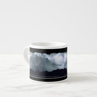 Wolf & Mountain Espresso Coffee Mug 6 Oz Ceramic Espresso Cup