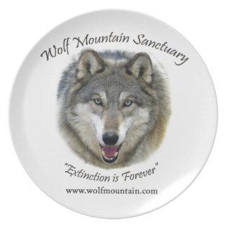Wolf Mountain Sanctuary - Istas Melamine Plate