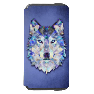 Wolf Multi Color Mixed Media Design 1 iPhone 6/6s Wallet Case