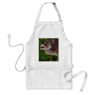 Wolf Of Many Colors Adult Apron
